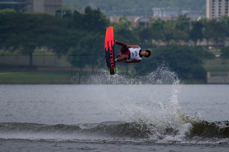 Putrajaya Nautique skidar & vaknar mästerskap 2014 royaltyfri fotografi