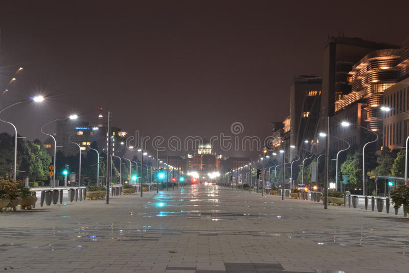 Putrajaya at night royalty free stock photo