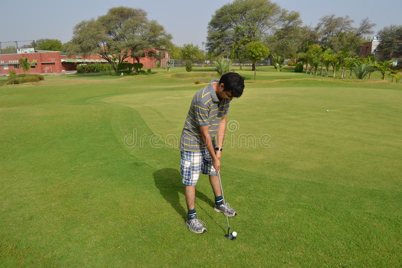 Putt de golf photo stock