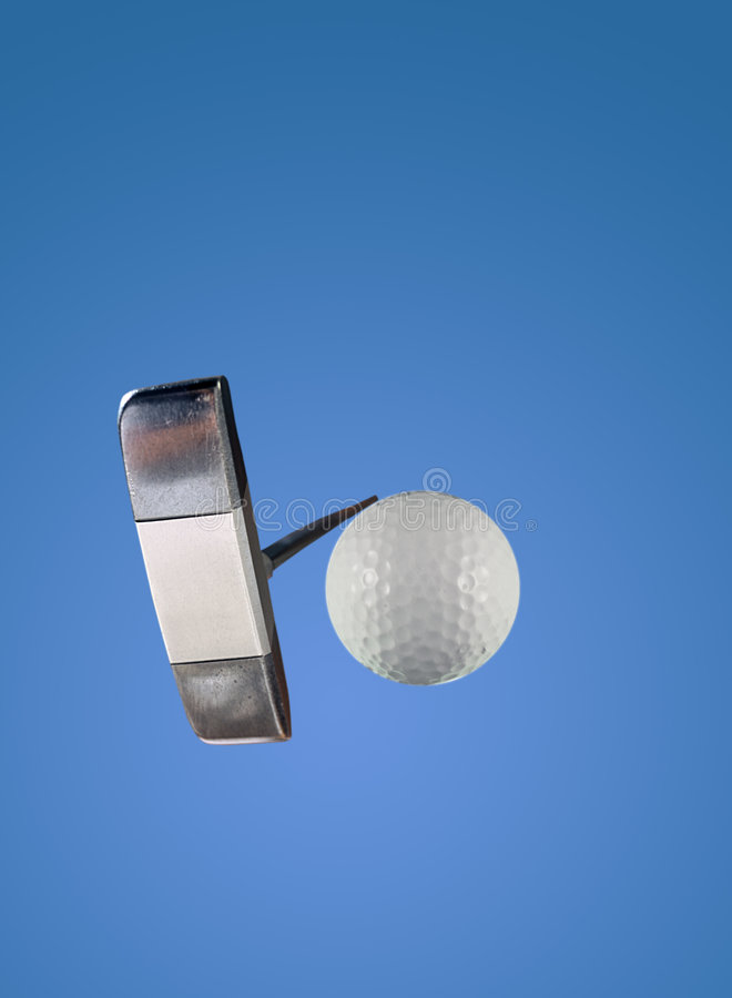 Putter and Golf Ball stock images