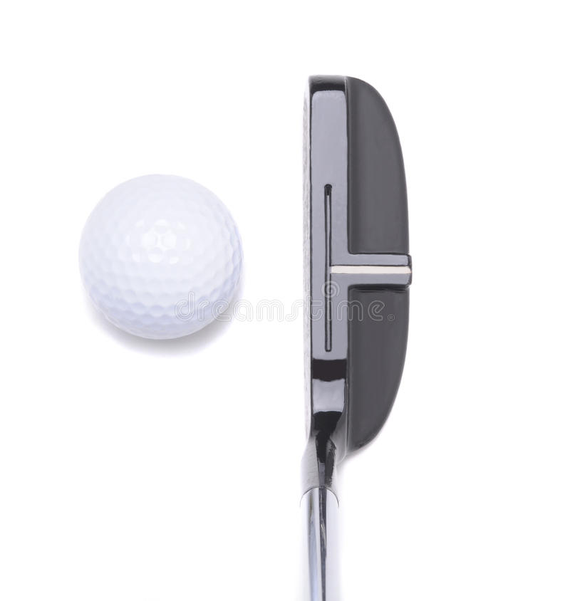 Download Putter And Golf Ball On White Stock Photo - Image of cutout, white: 12731222
