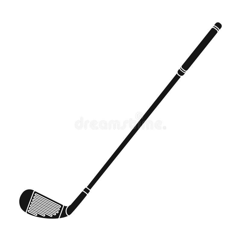 Putter per golf Singola icona del club di golf nel web nero dell'illustrazione delle azione di simbolo di vettore di stile illustrazione vettoriale