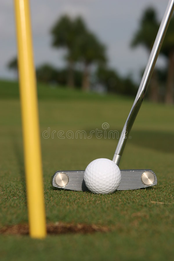 Putting! royalty free stock photography
