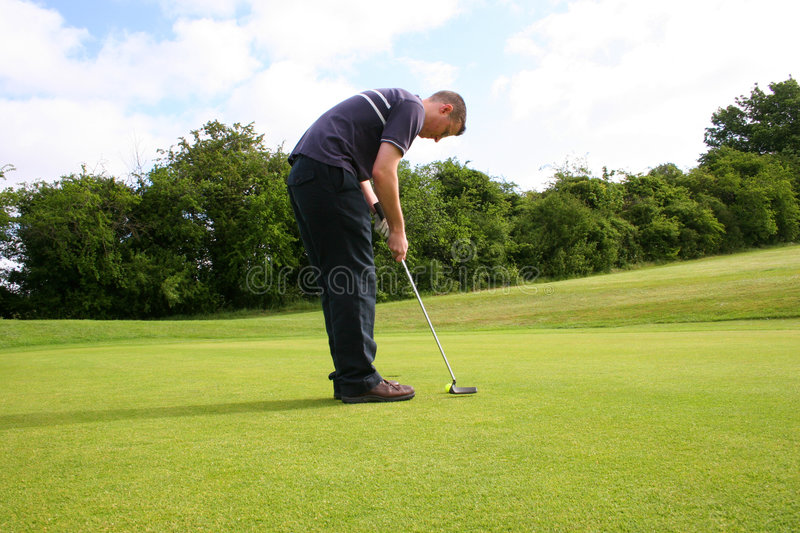 Putting for a Birdie stock photos