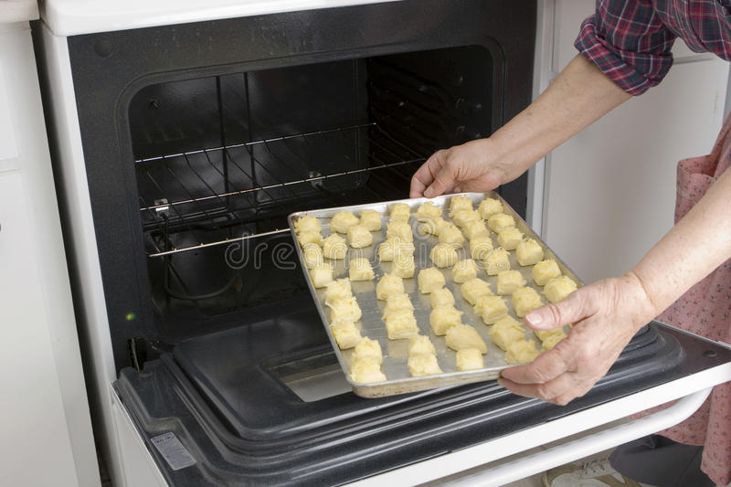 Download Putting Dough With Cheese In Oven (Recipe Series) Stock Image - Image: 21004239