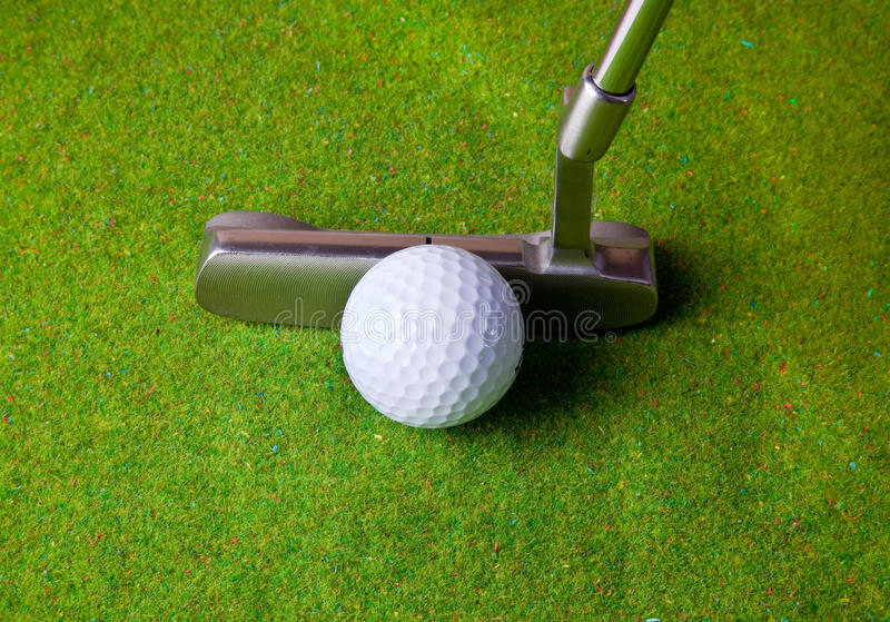 Download Putting in golf stock image. Image of hobby, surface - 18302229