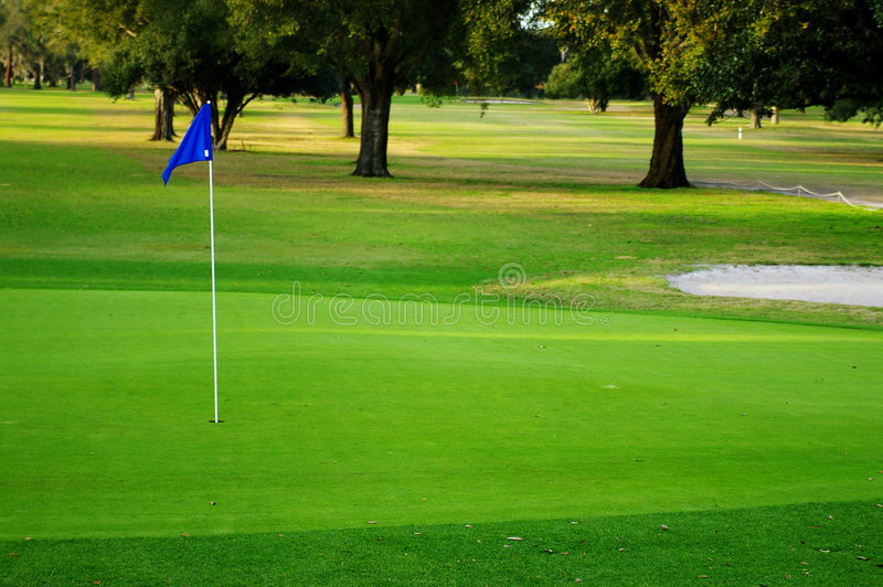 Putting green royalty free stock photography