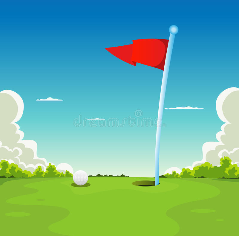 Free Putting Green - Golf Ball And Flag Stock Image - 22159901