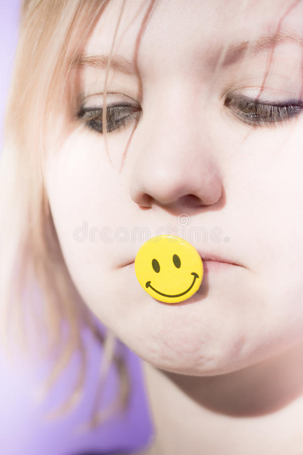 Putting On A Happy Face Stock Photography