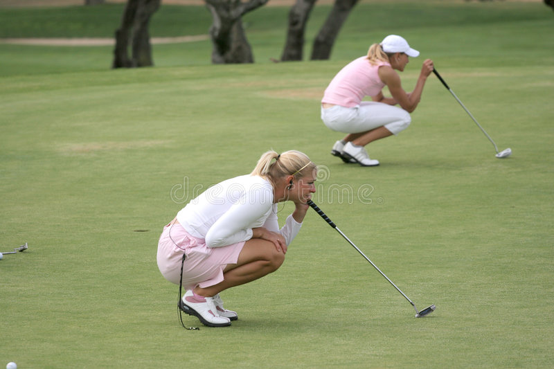 Putting, Ladies European Tour, Castelllon, 2006 stock photography