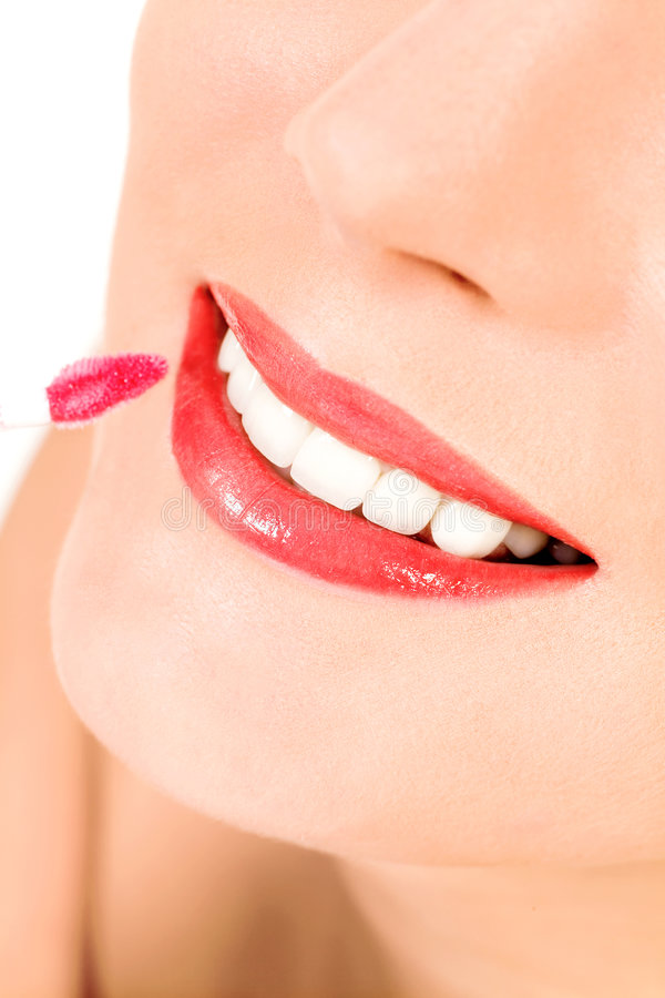 Download Putting On Lip Gloss Royalty Free Stock Photo - Image: 8426115