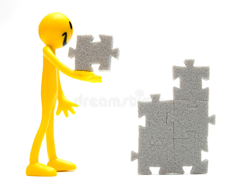 Download Putting pieces together stock illustration. Illustration of jigsaw - 10763861