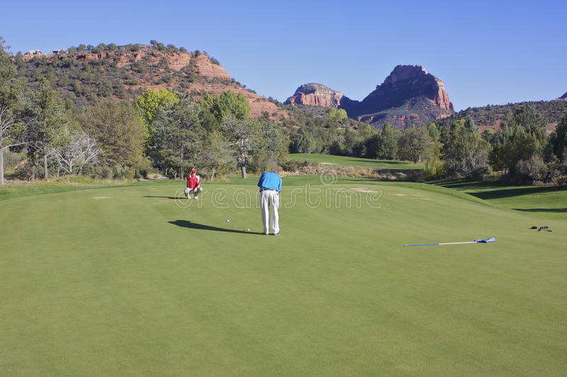 Putting in Red Rock Country royalty free stock photo