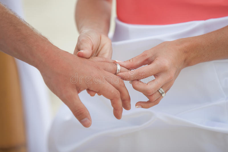 Download Putting On The Ring Stock Photo - Image: 25157420