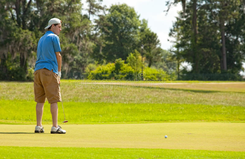 Download Putting for the Win stock photo. Image of focused, activity - 25033598