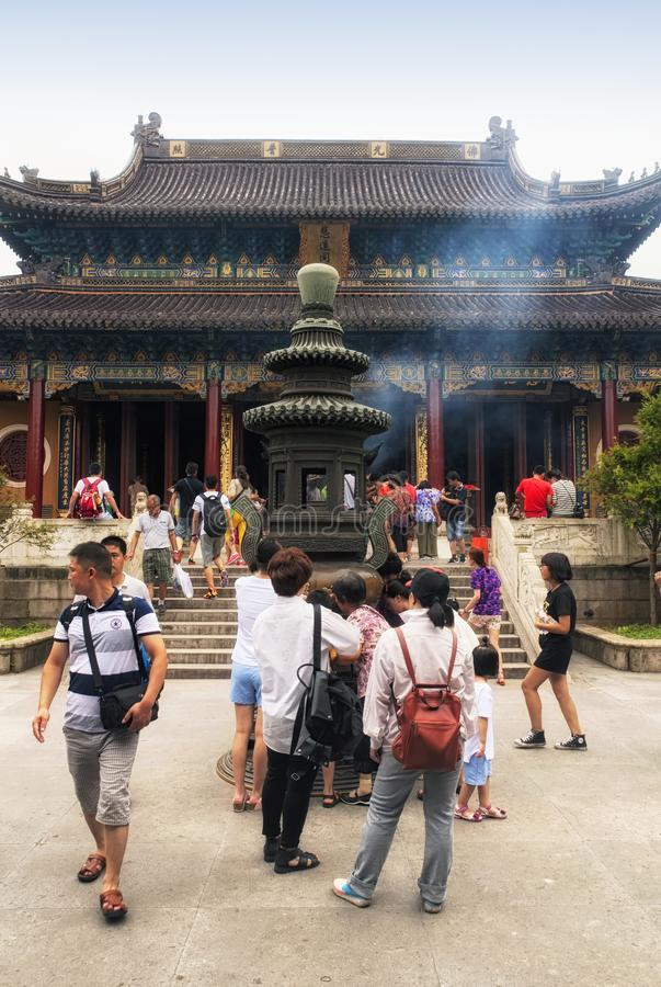 Putuoshan buddistisk tempel Kina arkivbild