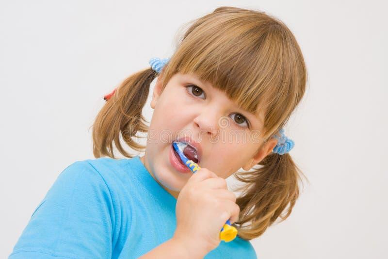 Putzen meiner Zähne stockfotografie