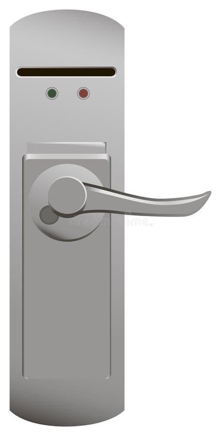 Puxador da porta com fechamento bonde ilustração royalty free