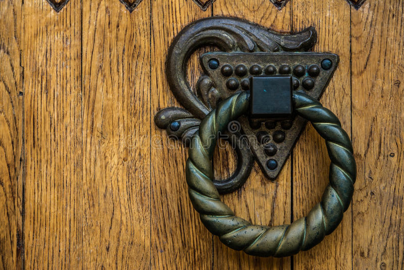 Puxador da porta redondo foto de stock