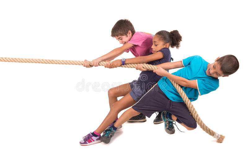 Puxar da corda imagens de stock
