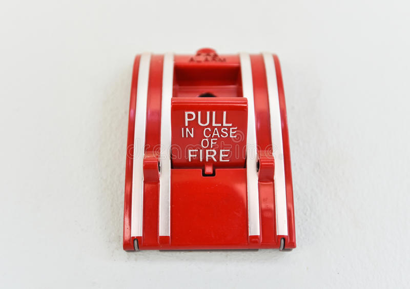 Puxe em caso do fogo foto de stock royalty free