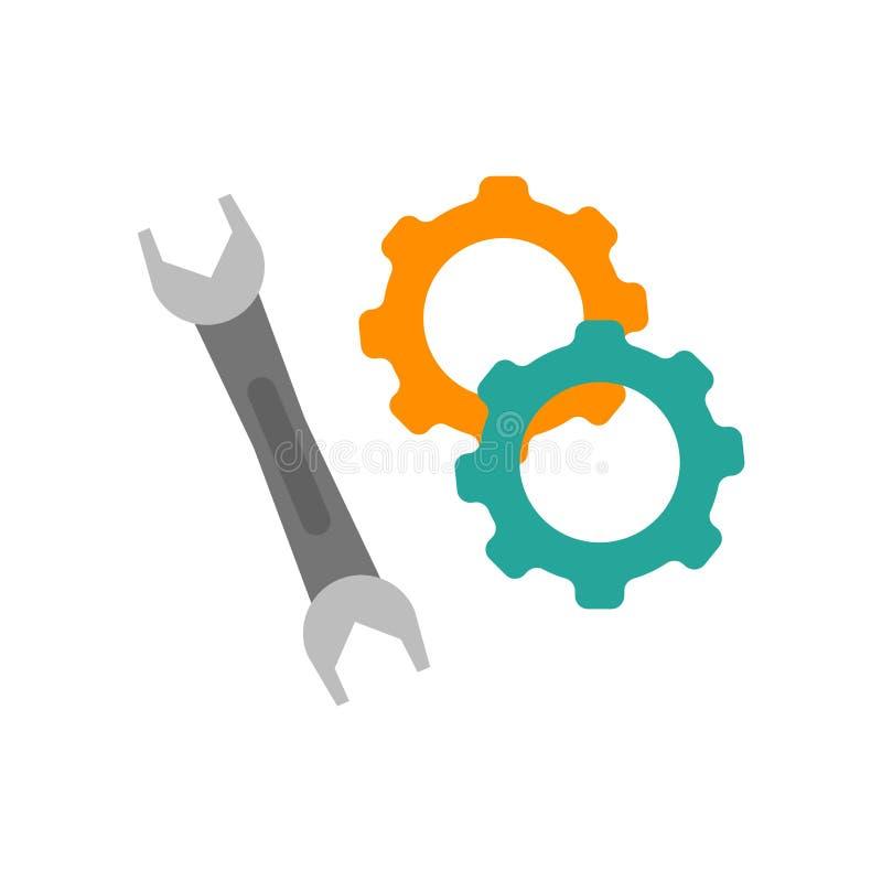 Puxe o vetor do ícone isolado no fundo branco, sinal da chave ilustração stock