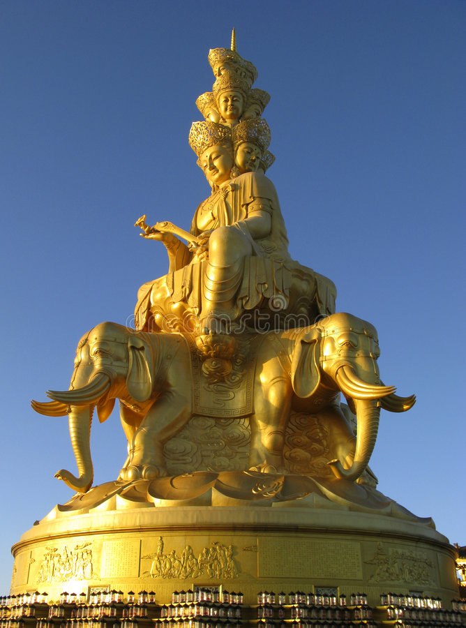 puxian Buddha statua zdjęcie stock