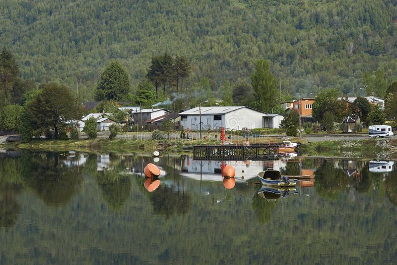 Puyuhuapi on the Carretera Austral in Chile. royalty free stock photo