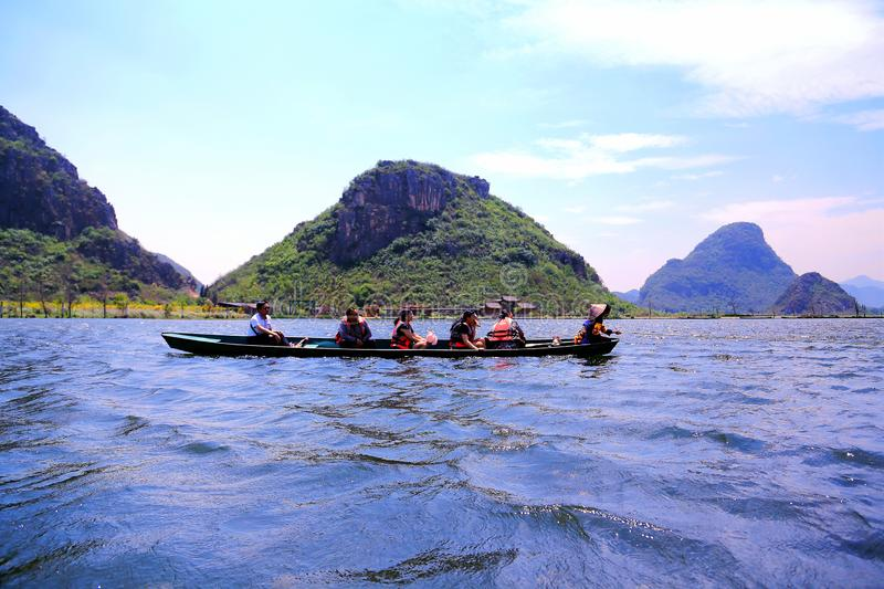 Puzhihe Scenic Area ,a typical karst landform. Puzhihe Scenic Area is a typical karst landform, which is famous for its six landscapes: water garden, Lake peak royalty free stock photography