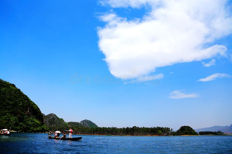 Puzhihe Scenic Area ,a typical karst landform. Puzhihe Scenic Area is a typical karst landform, which is famous for its six landscapes: water garden, Lake peak royalty free stock photo