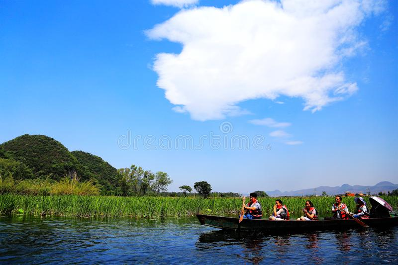 Puzhihe Scenic Area ,a typical karst landform. Puzhihe Scenic Area is a typical karst landform, which is famous for its six landscapes: water garden, Lake peak stock photos