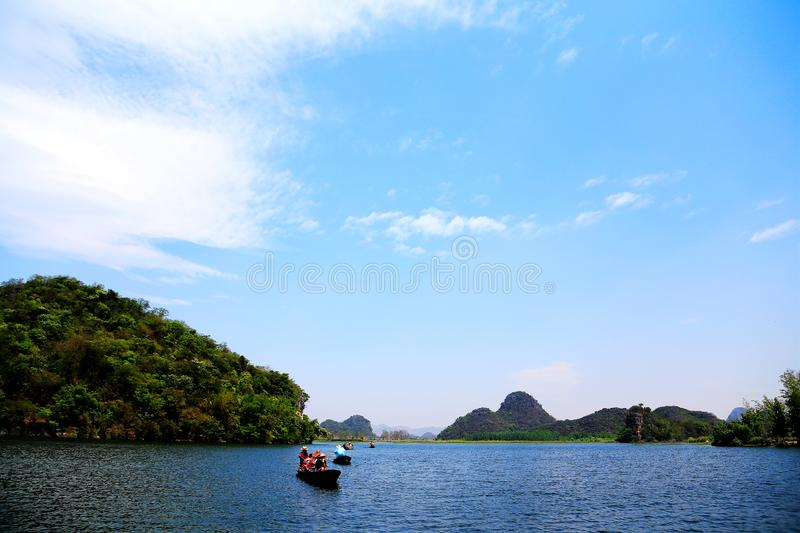 Puzhihe Scenic Area ,a typical karst landform. Puzhihe Scenic Area is a typical karst landform, which is famous for its six landscapes: water garden, Lake peak royalty free stock photos