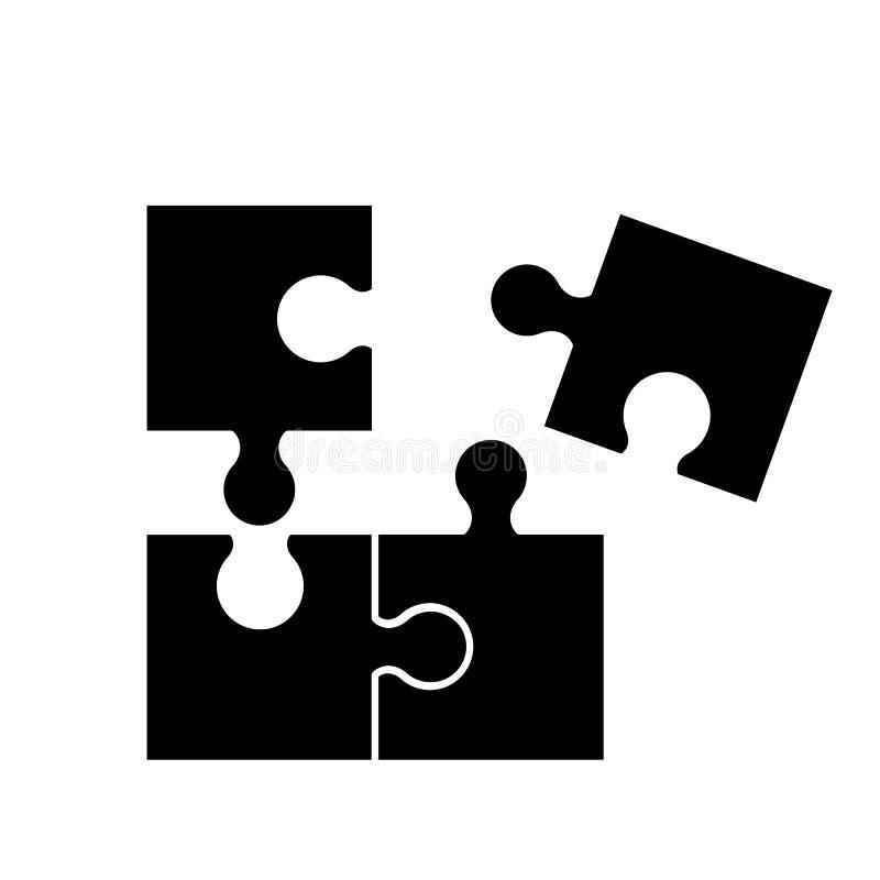 Puzzel av bra modig expertis för svarta symboler vektor illustrationer