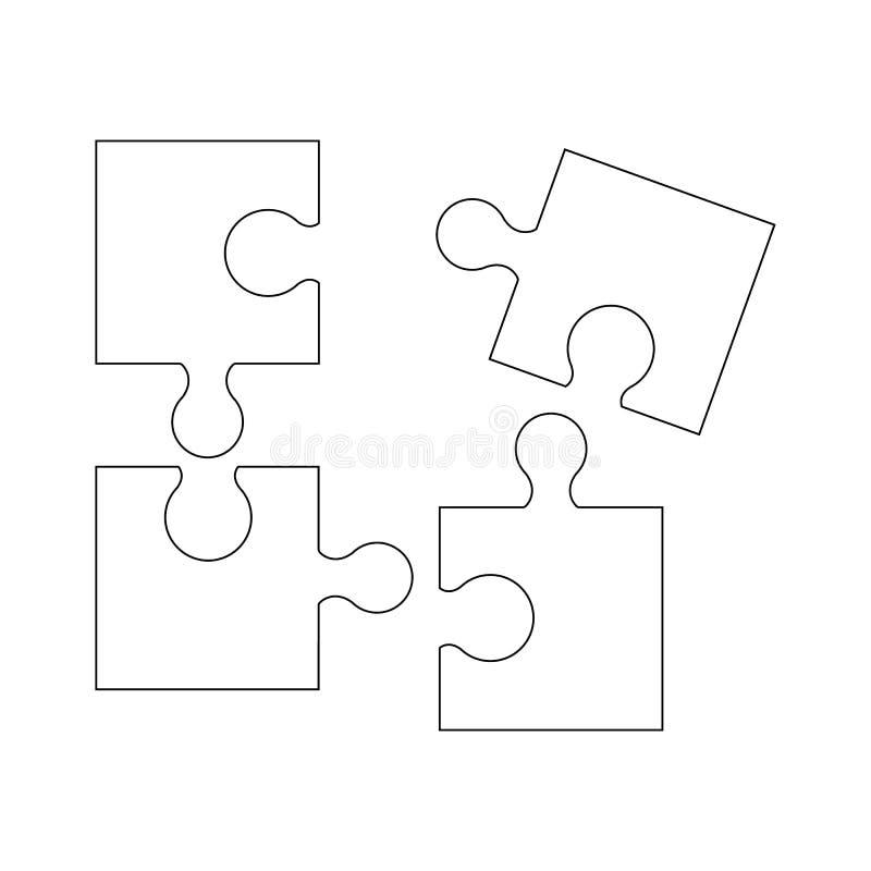 Puzzel av den bra modiga expertisen för symboler royaltyfri illustrationer