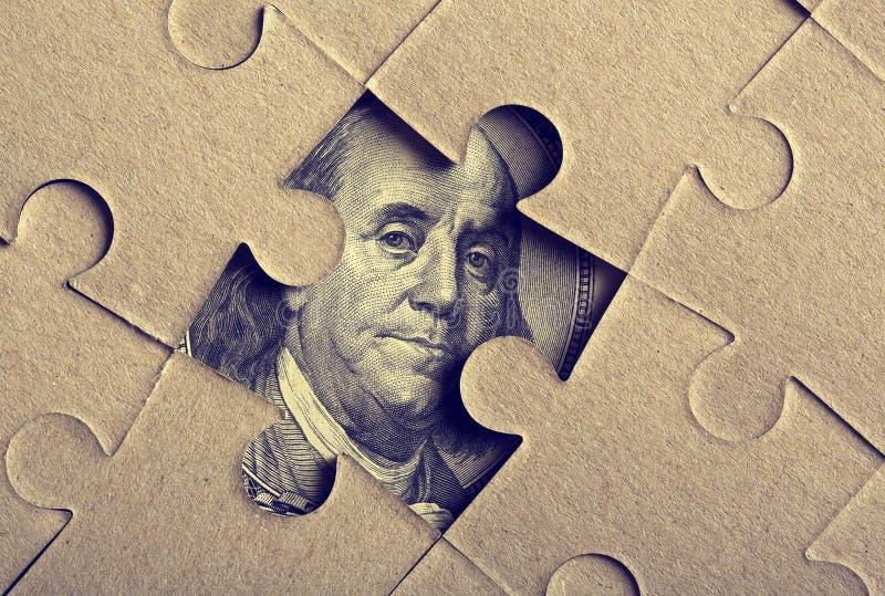Puzzel Met Franklin Stock Afbeelding