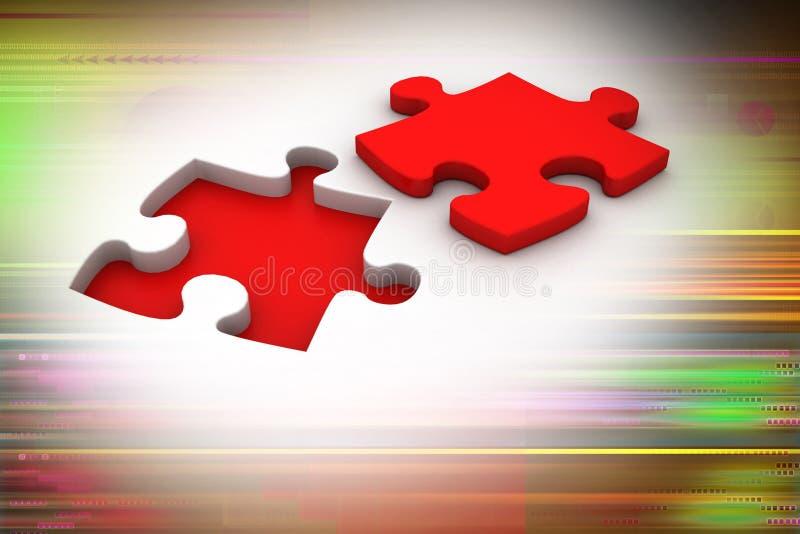 Puzzel met het missen van stuk stock illustratie