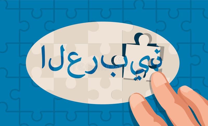 Puzzelconcept een taal royalty-vrije illustratie
