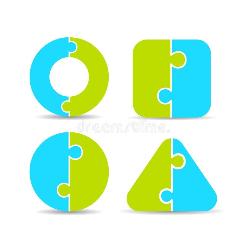 Puzzeldiagram vector illustratie