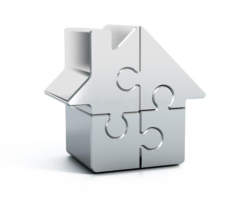 Puzzle à la maison illustration stock