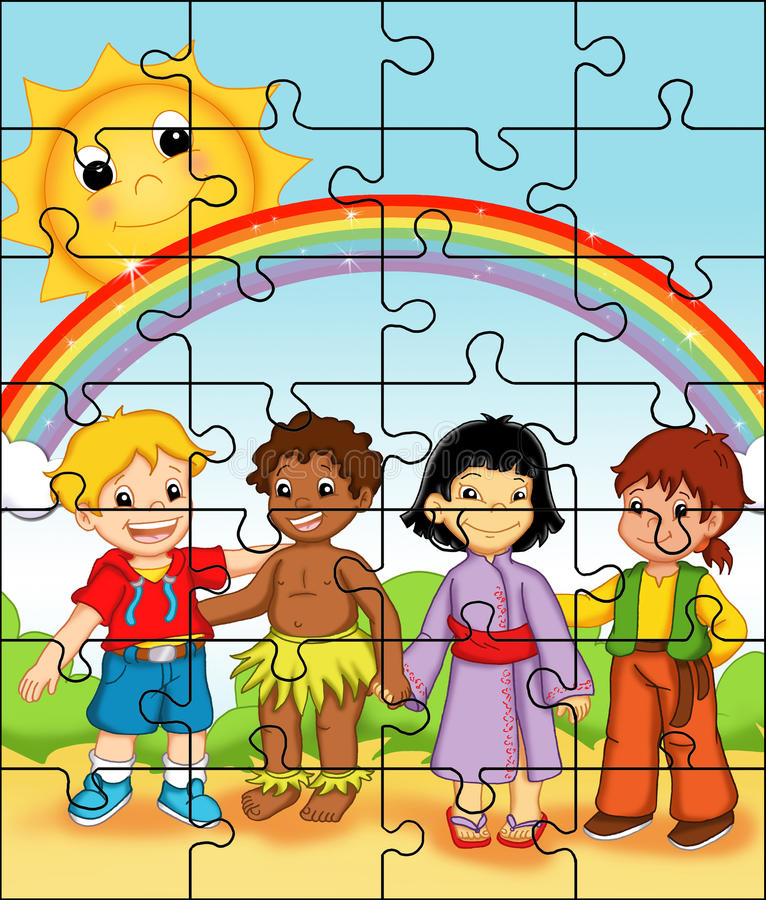 Puzzle 1 stock illustration