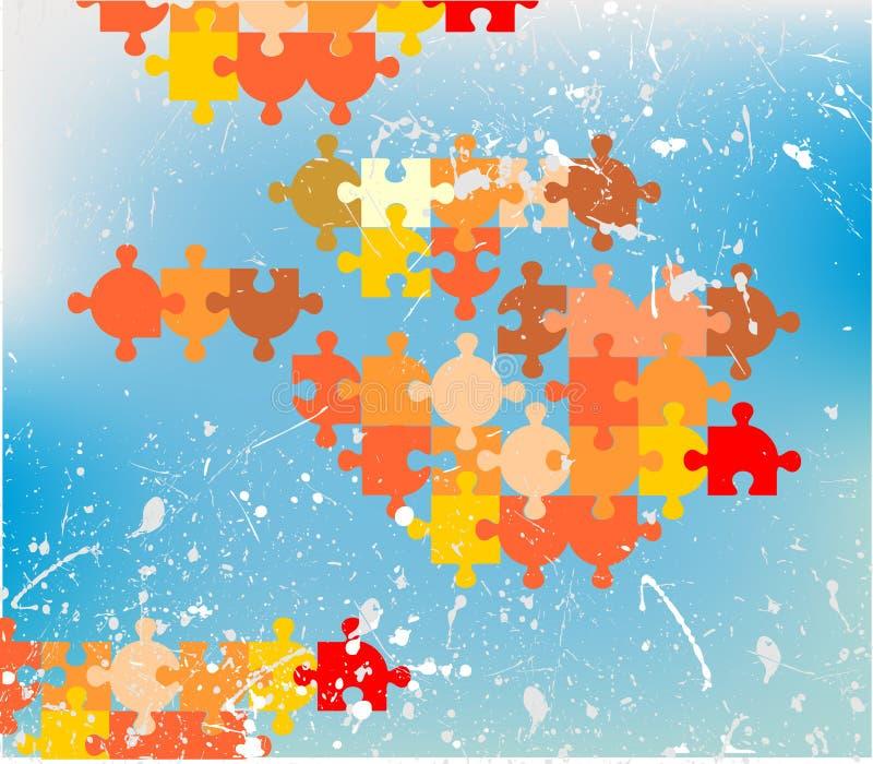 Puzzle. Vector illustration background wallpaper royalty free illustration