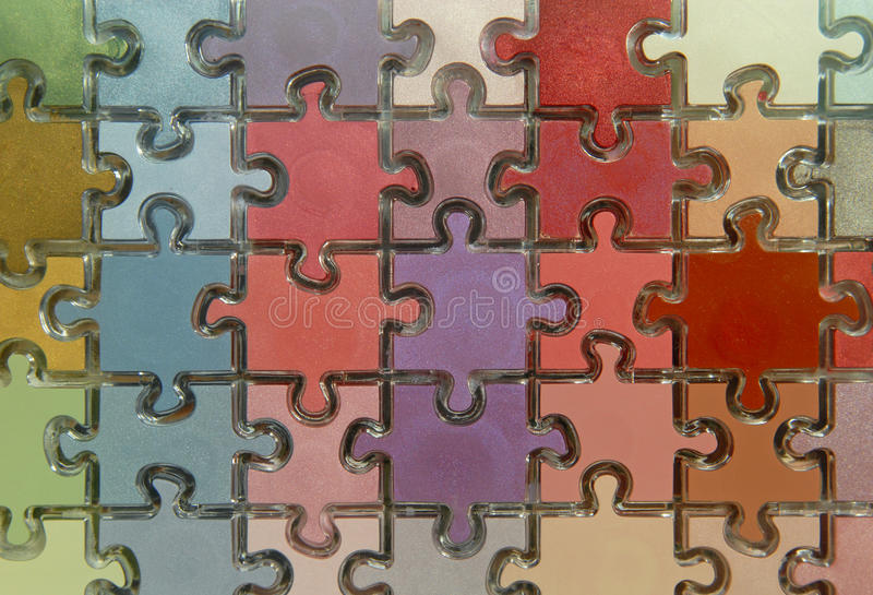 Puzzle. Close up of colour puzzle stock image