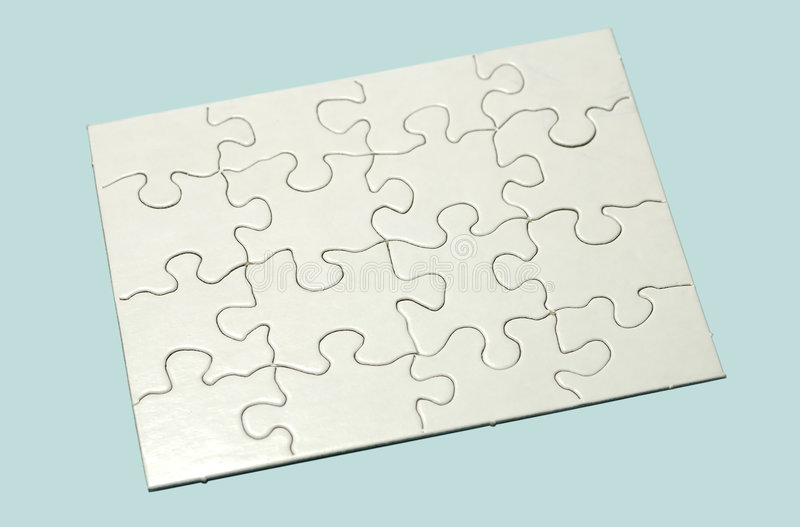 Puzzle. Photo of a White Puzzle - Background stock photos