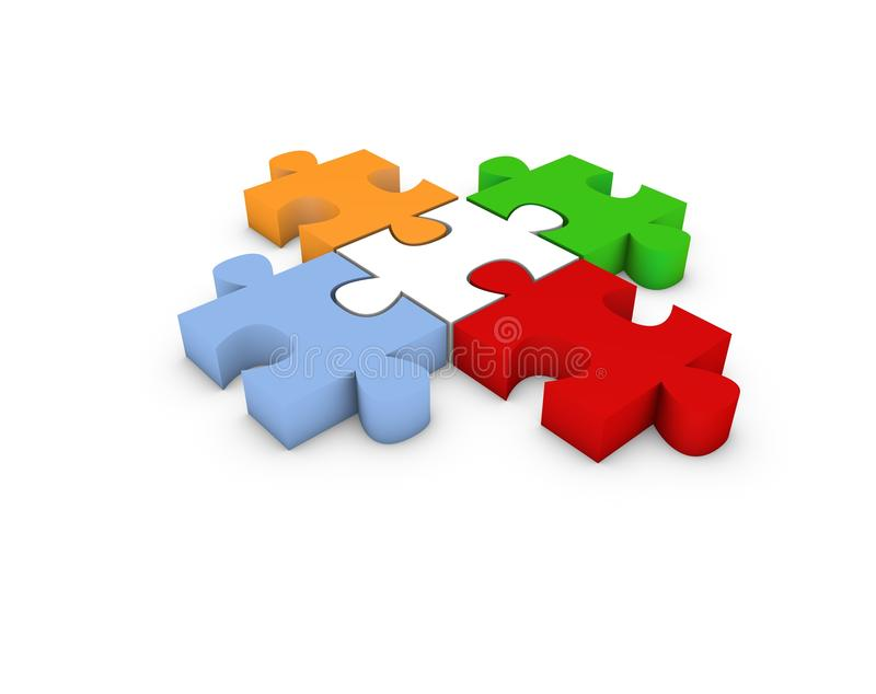 Puzzle illustration stock