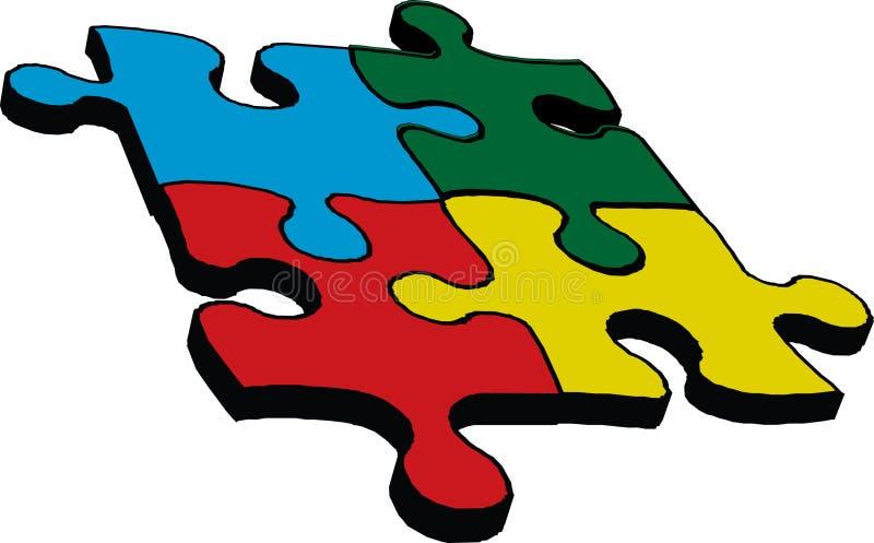 Puzzle illustration de vecteur