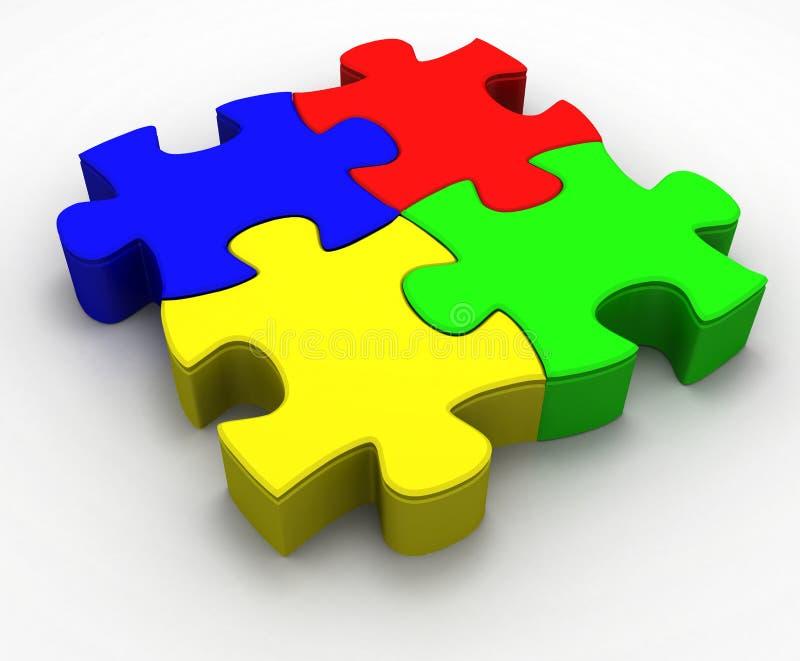 Puzzle #2 vector illustration
