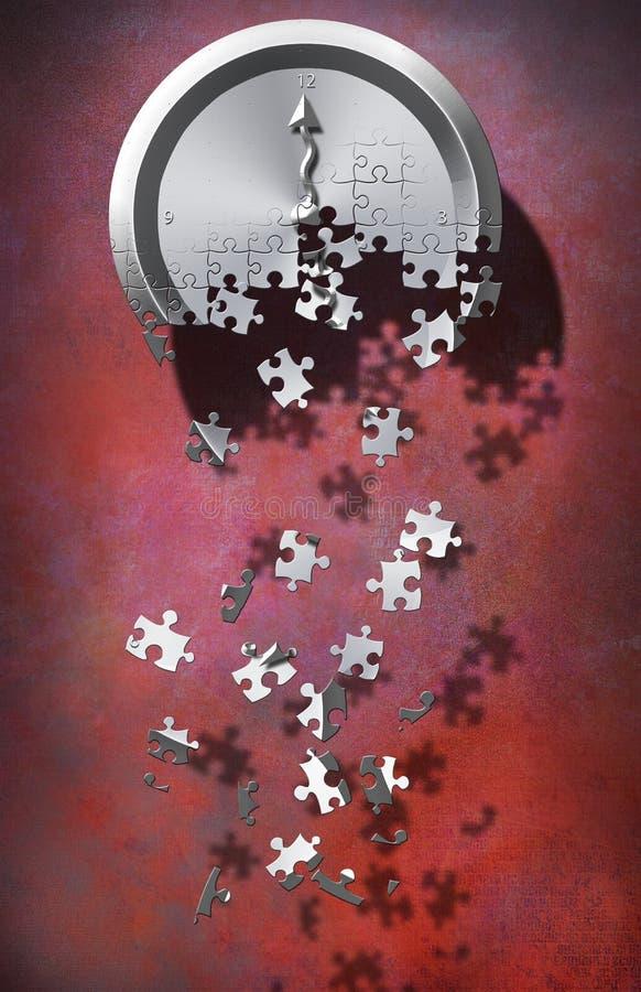 Puzzle 2 de temps illustration libre de droits