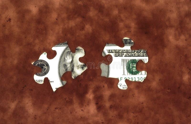 Puzzle 2 dei soldi immagini stock libere da diritti