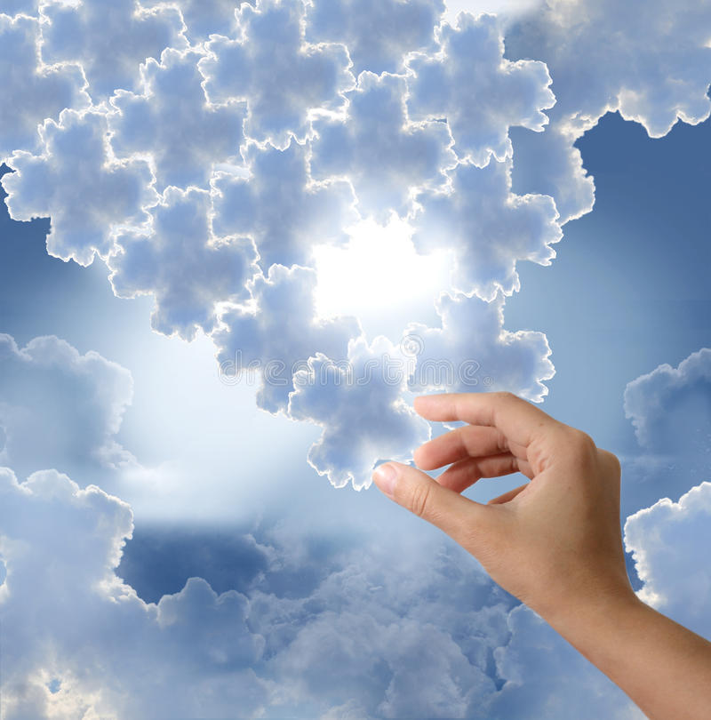 Download Puzzle stock photo. Image of decision, clouds, conceptual - 20964742