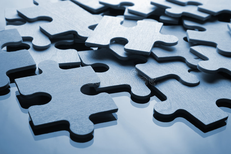 Download Puzzle stock image. Image of construction, blue, part - 2304285